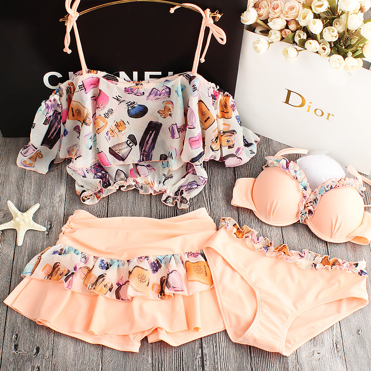 2017Sexy Bikinis Women Swimsuit Swimwear Halter Top Flower Brazillian Bikini Set Bathing Suit Summer Beach Wear Biquini<br>