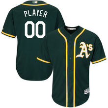 MLB Men's Oakland Athletics Baseball Athletic Green Cool Base Custom Jersey(China)