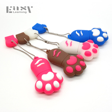 Easy Learning Cartoon Hot Sell Cat Paw USB Flash Drives Pen Drive 4GB 8GB 16GB 32GB 64G Pendrives USB Disk USB 2.0 Memory Stick(China)