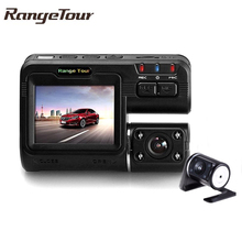 "Dual Lens Car DVR Camera I1000 Full HD 1080P 2.0""LCD Dash Cam+8 IR LED Light Night Vision H.264 Rotatable Lens Video Recorder"