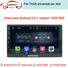 Newest 2 Din 100% Pure Android 6.0 Universal Car Dvd Player Pc Gps Navigation Stereo Video Multimedia Capacitive Screen(China)