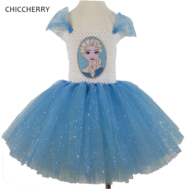 2 - 12 Years Blue Elsa Dress Princess Kids Lace Dresses Wedding Party Lace Tutu Roupas Menina Children Costume Baby Girl Clothes<br><br>Aliexpress