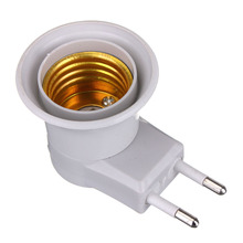 Lamp Base E27 LED Light Male Socket to EU Type Plug Adapter Converter for Bulb Lamp Holder With ON/OFF Button(China)