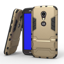 SLIM ARMOR Case For Motorola Moto G2 XT1068 XT1069 Military Style Cell Phone Cases For moto g2 Back Cover with Stand Function