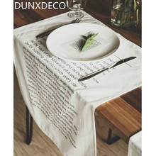 DUNXDECO Table Placemat Cotton Tea Towel Napkin Kitchen Accessories Fabric European Modern Home Decoration Food Photo Cloth