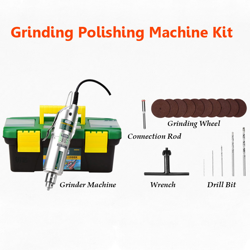 Miniature Grinder Polisher Machine Speed Adjustable Reversable Jade Bodhi Wood Carving Grinding Kit<br>