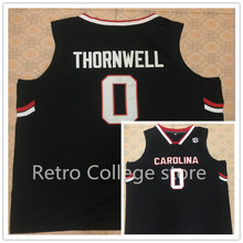 #0 Sindarius Thornwell South Carolina Gamecocks College Retro Throwback Basketball Jersey Customize any size number and player n