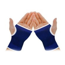 Blue Palm Wrist Hand Support Glove Elastic Brace Sleeve Sports Bandage Gym Wrap