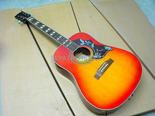2015 New + Factory + Chibson hummingbird acoustic guitar, Cherryburst G Hummingbird electric acoustic guitar Sapele body