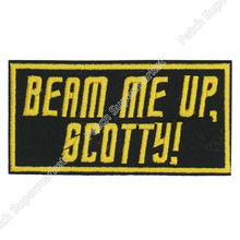 "4"" Star Trek patch / Beam Me Up Scotty/ TV Moive Series Embroidered Emblem punk applique Sew On iron on patch(China)"