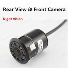 best selling Universal 8 LED Night Vision Rear View & Front Camera Car Parking Assistence Auto Cam System