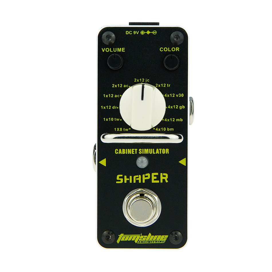 AROMA Tomsline ASR-3 Shaper Cabinet Simulator Mini Single Electric Guitar Effect Pedal with True Bypass Guitarra Effect Pedal<br>