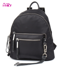 HMILY Female Bag Waterproof Oxford Women Backpack Leisure Style Female Travel Bag Daily Thin Ladies Daypack Trendy School Bag