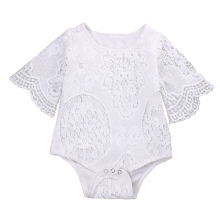 Cute Newborn Baby Girl Romper Clothes 0-24M Infant Bebes Princess Girls Lace Baby Rompers Jumpsuit One Pieces Outfit Sunsuit(China)