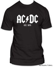 ACDC Est. 1973 Licensed Adult Shirt S-2XL yangyiyang top tees