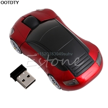 2.4G 1600DPI Mouse USB Receiver Wireless LED Light Car Shape Optical Mice