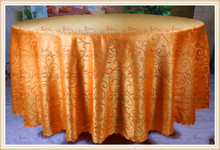 Orange hook flower Jacquard Tablecloth/Table Cover For Wedding Party Hotel Banquet Home Decorations(Chair covers&Sashes&curtain)