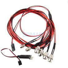 6x LED Light with Lamp Headlight Taillight Headlamp with RC Circuit Panel for RC Car Truck Crawler