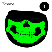 Tronzo Black Halloween Party Mask Ghost Skull Half Face Scary Horror Mask Luminous Color Changing Halloween Party Supplier