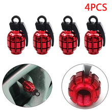 4Pcs Red Creative Style Tire Tyre Valve Dust Caps Car Motorcycle Bike Bicycle CSL2017(China)