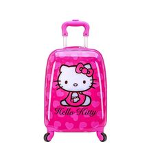 ABS rolling luggage Children's suitcase Trolley spinner Boy travel bag 18-inch cute cartoon Carry Kid Luggage Girl Trunk Student
