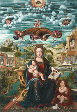 Christian religious Virgin Mary Read the Bible canvas printings oil painting classical oil painting printed on canvas(China)