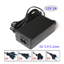 AC/DC adapter 12V 2A 24W Led switching power supply Table type with ac cable AU/EU/UK/US plug available(China)