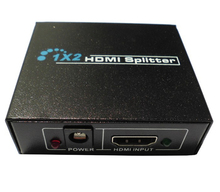 1080P 2 port hdmi splitter 1x2 1.4 1 in 2 out 3d split one HDMI input to 2 HDMI output with power spdif switch For xbox 360 ps3