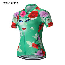 Green MTB Bike Jersey Women Cycling Clothing Girl Ropa Ciclismo Pro Jersey Riding bicycle Top Maillot T-Shirts red Blouse(China)