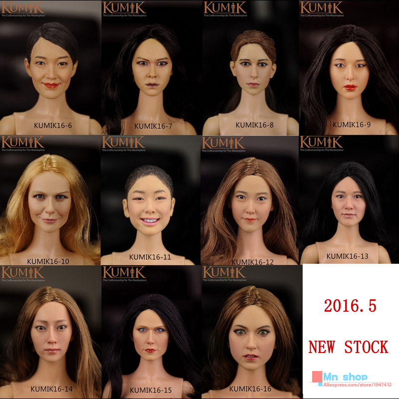 NEW STOCK 1/6 Scale Head Sculpt  Action  Figure Accessories Doll Headplay Fit 12 Female  Action Figure Collection Toys Gift<br><br>Aliexpress