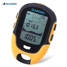 SUNROAD Outdoor Multifunction Waterproof LCD Digital Compass Barometer Altimeter Thermometer Hygrometer for camping hike travel