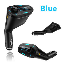 kebiduUniversal Digital Car Kit FM Transmitter MP3 Player Wireless Modulator USB SD MMC LCD With RF Remote 3.5MM Aduio Cable(China)