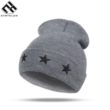 2017 New Soild Cotton Winter Hat Popular Knitted Hat Casual Unisex Skullies Beanies For Men Women Wholesale(China)