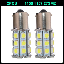 2016 Special Offer 2ps 1156 1157 5050 27smd Led Ba15s Bay15d P21w P21/5w Base For Car Brake Parking Tail Turn Signal Light Bulb