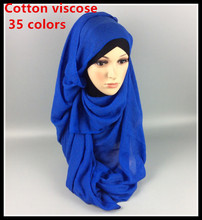 20pcs 1lot top quality thicker viscose hijab scarf,viscose shawl ,thicker material ,180*90cm ,can choose colors(China)