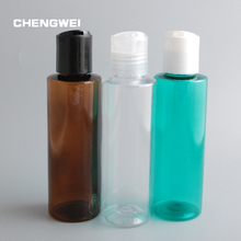 CHENGWEI 120ml Empty  Lotion Press Cap Pump Bottle Shampoo Cosmetic Refillable Plastic Container 10Pcs/Lot(China (Mainland))