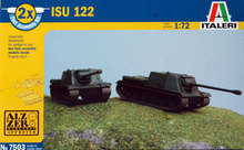 Out of print! Italeri 1/72: 7503 ISU 122 - Set of 2 - Kit / Fast Assembly Models