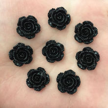 Buy New 20pcs 14mm Resin Black Rose Flatback Stone Scrapbook Wedding DIY Craft D737 for $1.98 in AliExpress store