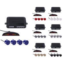 Parking Sensor Kits Car Auto LED Display 4 Sensors For All Cars Reverse Assistance Backup Radar Monitor Parking System 7colors