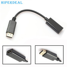 HIPERDEAL Advanced Adapter Cable DisplayPort DP Male to HDMI Female Converter for Dell for HP for Lenovo 2017 drop shipping 1pc