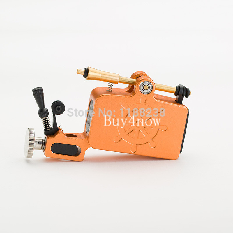 Newest Tattoo Gun Aluminium Captain Rotary Machine Liner Shader TATy High Quality Orange for tattoo kit Free Shipping<br>