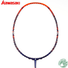 2018 New Genuine Kawasaki Full Carbon Racquet Explore X160 Half-star Badminton Racket With Free Gift(China)