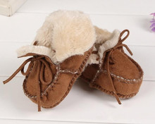 Baby Spring Winter swede warm boots infant Walking Shoes warm Leather Boots  toddler soft sole booties