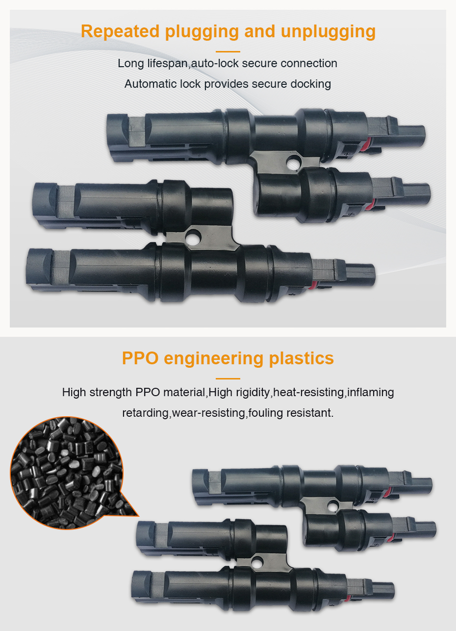 MC4 Connector 1 Pair Solar PV MC4 Multi Parallel Branch Connectors pv module panel connector Male & Female Solar Energy Adapter_04