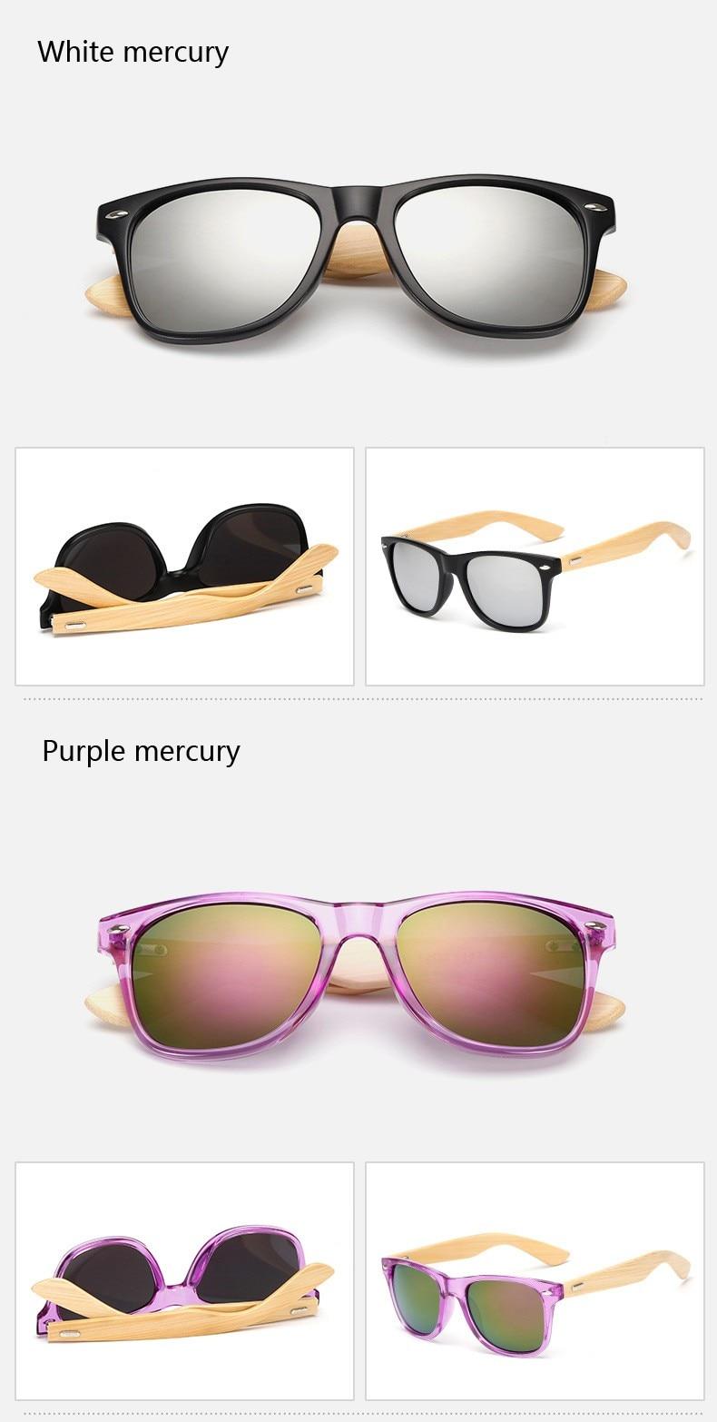 Ralferty Retro Wood Sunglasses Men Bamboo Sunglass Women Brand Design Sport Goggles Gold Mirror Sun Glasses Shades lunette oculo 12