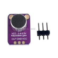 WS16 Electret Microphone Amplifier MAX4466 Breakout Audio IC Development Tools Electret Mic Amp with Gain Connector for Arduino