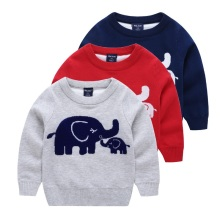High Quality Baby Boys jumper Autumn Winter Cartoon Sweaters Children Kids Knitted Pullover Warm Outerwear Babi Pure Cotton P065(China)