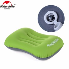 Naturehike Outdoor Inflatable Pillow Travel Air Pillow Neck Camping Sleeping Gear Fast Portable Camping Tent Mat Pillow(China)