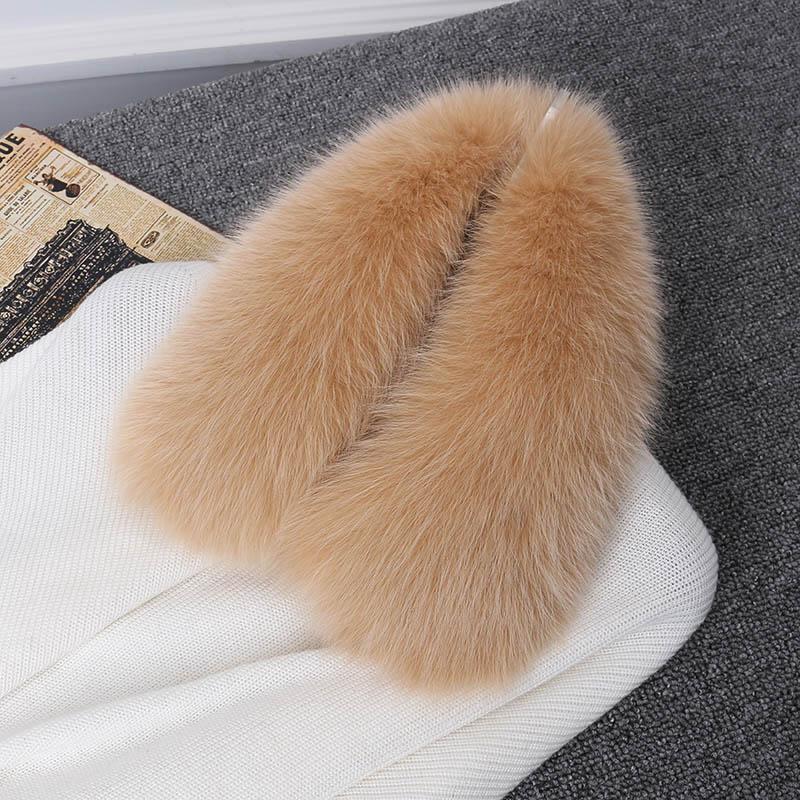 fox fur collar beige 4