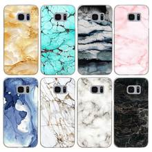 G552 New Fashion Marble Pattern Transparent Hard PC Case Cover For Samsung Galaxy S 3 4 5 6 7 8 Mini Edge Plus Note 3 4 5